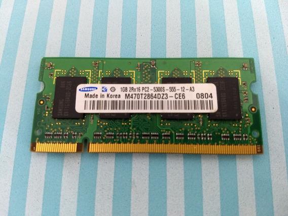 Memória 1g 2rx16 P2-5300s-555-12-a3 Ddr2 Notebook Samsung