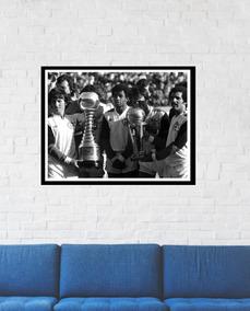 Quadro Poster Flamengo Mundial Futebol 35x45