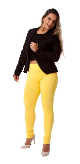 Calça Feminina Bengaline Casual Skinny Primavera-verão 2020