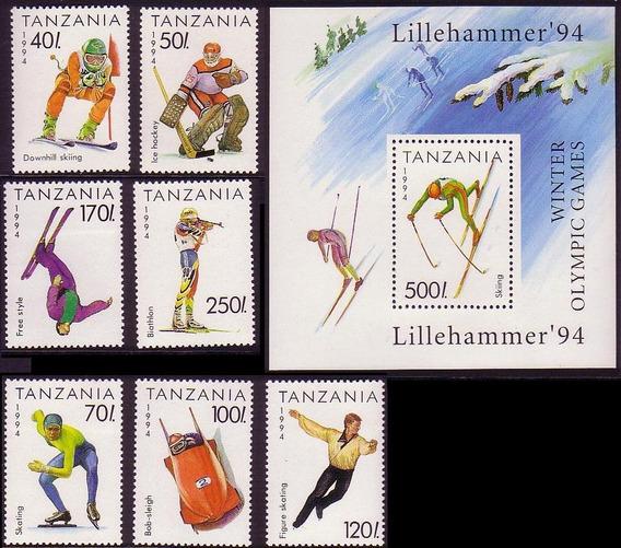 Tanzania 1994 Juegos Olimpicos De Invierno Completa Mint