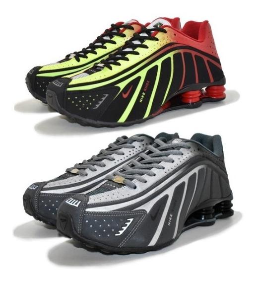 Têniks Nike Sxhox R4 Lançamento Neymar 4 Molas Kit 2 Pares