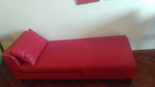 Divan De Cuero Color Rojo
