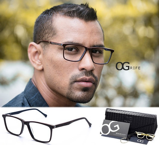 Armação Oculos Ogrife Og 484-c Masculino Com Lente Sem Grau