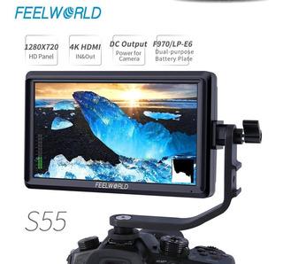 Feelworld S55 5.5 Pulgadas Cámara Dslr Monitor De Campo Pequ