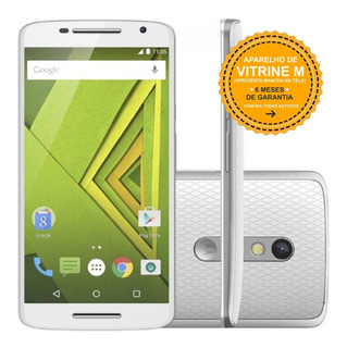 Motorola Motox Play Xt1563 32gb 20,7mp Branco Vitrine Mancha