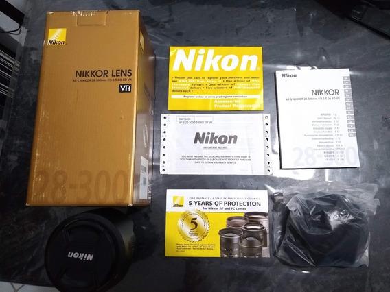 Lente Nikon 28-300mm Fx Novíssima