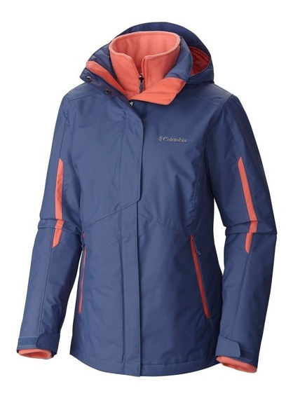 Campera Columbia Bugaboo Desmontable Mujer Impermeable Frio