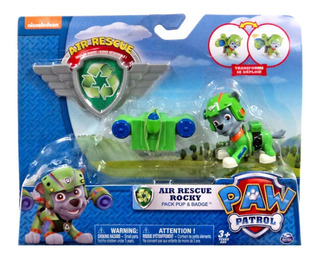 Muñeco Paw Patrol Air Rescue Action Pack Pup And Badge