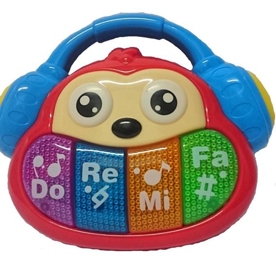 Piano De Macaco Som E Luzes Músicas Joguinhos Bbr Toys
