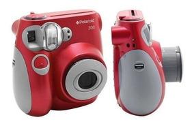 Câmera Com Impressão Instantânea Polaroid - Pic300 Vermelha