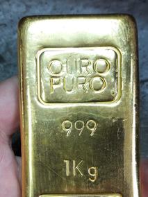 Barra De Ouro 24k (999,99) Laminado Para Joalheira /poupança