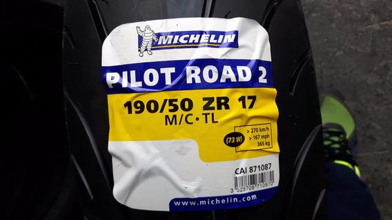 Pneu Moto Michelin Pilot Road 2 190/50-17 73w Traseiro