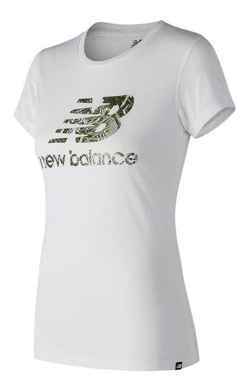 Remera New Balance Mujer Wt81539 Essentials Heathe 2016269-s