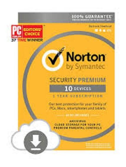 Norton Security Premium 1 Ano 10 Pc .. Leia Com Atencao