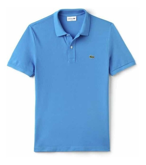 Polo Lacoste Corte Slim Color Loire Blue Nueva Y Original