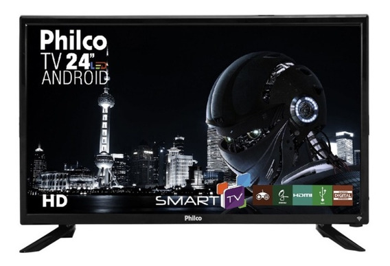 Smart Tv Led Hd Android 24 Polegadas Philco Ptv24n91sa Pix90