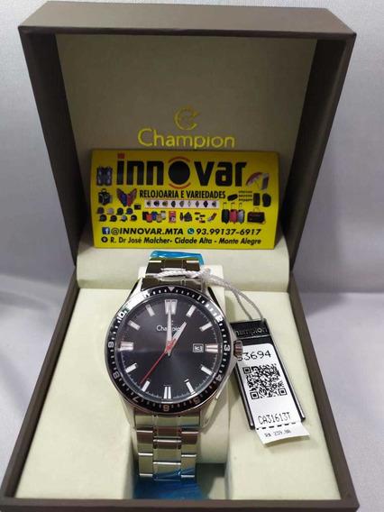 Relógio Champion Pulseira E Caixa De Aço
