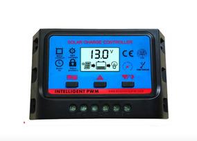 Controlador De Carga Usb 20a 12v/24v Pwm + Painel Solar 30w