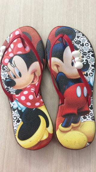 Rasteiras Infantil Da Personagem Mickey/miney Barato
