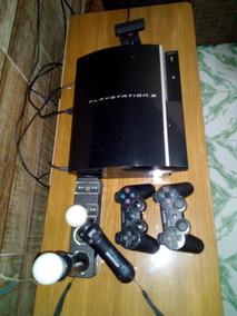 Play 3 Completo Com 12 Jogos, Controle, Movie E Carregador