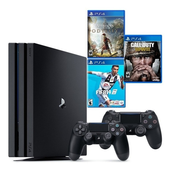 Play Station 4 Pro 4k 1tb +2 Controles + 3 Juegos