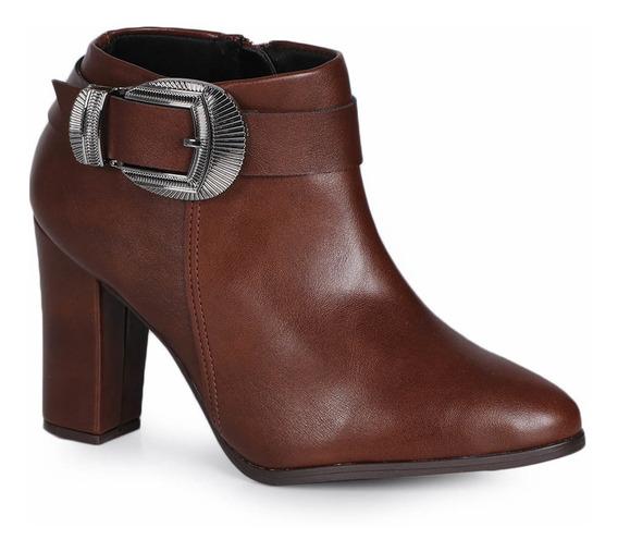 Ankle Boots Feminino Beira Rio Fivela