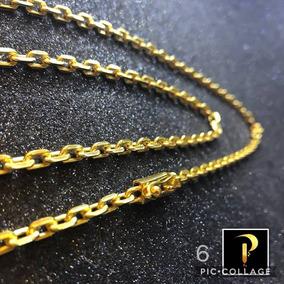 Cordão Cartier Com 6 Banhos De Ouro 24k 4mm 70cm.