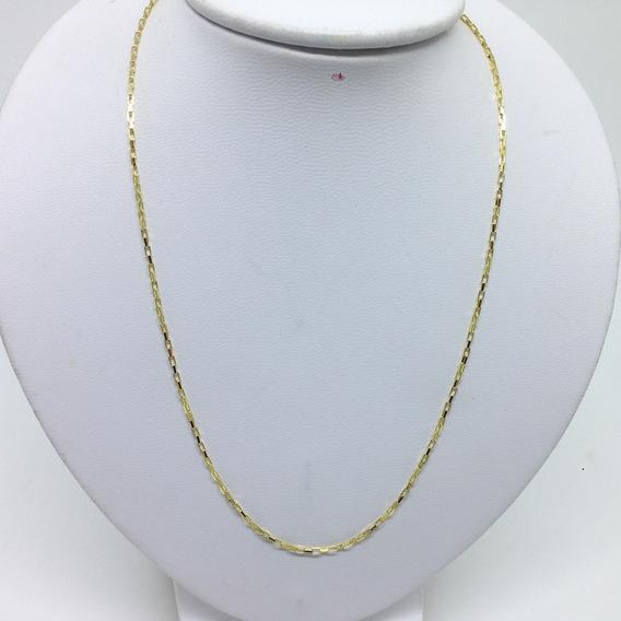 Cordão Veneziana Longa Cadeado Banhado A Ouro 70cm