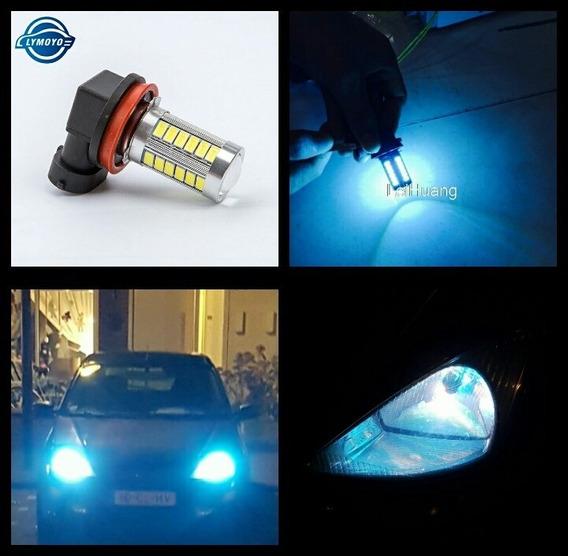 Par Lâmpada Led Automotiva Carro H8 H11 Hb4 Azul 8000k