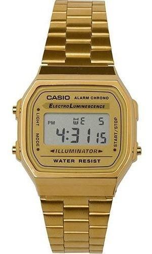 Relogio Casio Unisex A168 Retrô Vintage Dourado A168wg-9wdf
