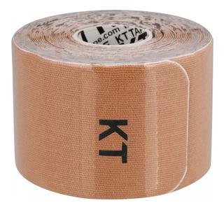 Bandagem Elástica De Algodão Kt Tape 20 Tiras Bege