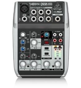 Mesa De Som Behringer Xenyx Mixer Q502 Usb ( Promoção )