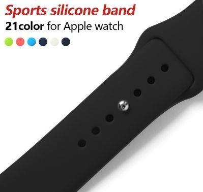 Pulseira Sport Para Apple Watch 42mm Preta Laranja