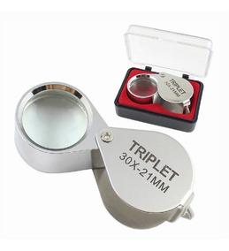 2 Lupa Joalheiro Relojoeiro Reparo Eletrônico Lente 30x-21mm