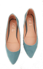 Valerina Flats Puntal Elegante Moda Ante Ideal Oficina Suave