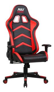 Cadeira Gamer Max Racer Giratória Reclinável Preto/vermelho