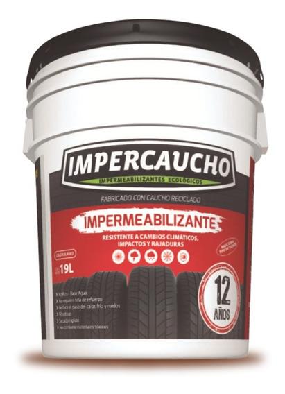 Impermeabilizante Impercaucho Cubeta Aplicacion Para Techo 12 Años 19 Litros