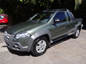 Fiat Strada Adventure Ce 1.8 2012 Verde Flex