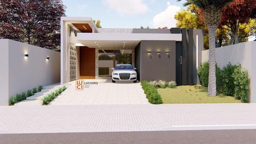 Imagem 1 de 2 de Pj. Arquitetônico Casa Moderna:124,00m². Terreno11,50x21,80.