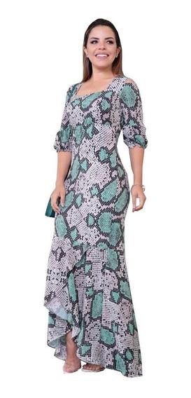 Vestido Longo Crepe Seda - Lançamento Luciana Pais ( 92579 )
