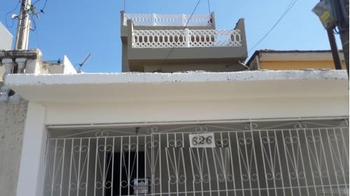Imagem 1 de 6 de Sobrado À Venda, 5 Quartos, 2 Vagas, Novo Oratório - Santo André/sp - 46644