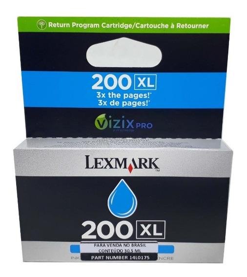 Cartuchos Lexmark 200xl Cyan Original Novo