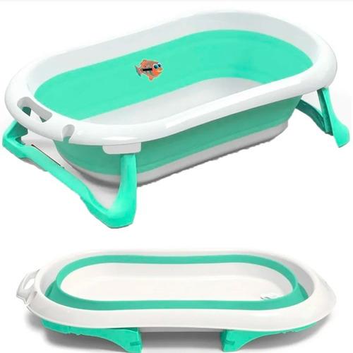 Imagen 1 de 10 de Bañera Plegable Bebe Infanti  Tapon Marca Temperatura Agua