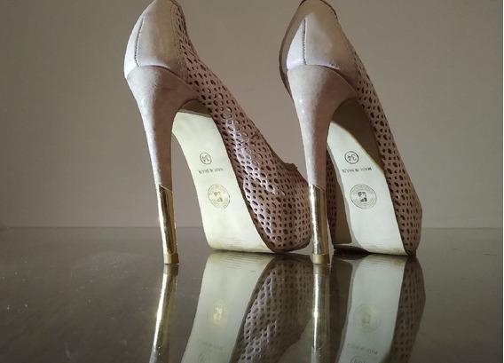 Sapato Scarpin Salto Alto Fino 15 Cm