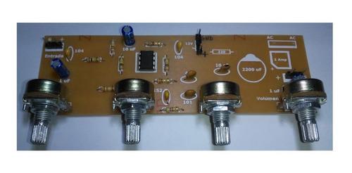 Modulo Preamplificador Audio Mono Con 3 Tonos 12v O +/-12v