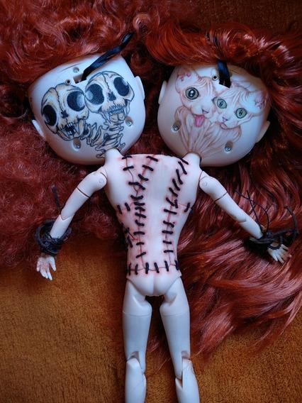 Bonecas Blythe Tbl Gêmeas Siamesas Com Lábio Leporino