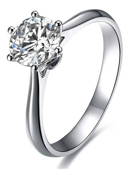 Anillo Con Diamante Cultivado De 100 Pts -50%