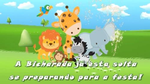 Imagem 1 de 4 de Mundo Bita Safári - Convite Virtual Para Festa Infantil