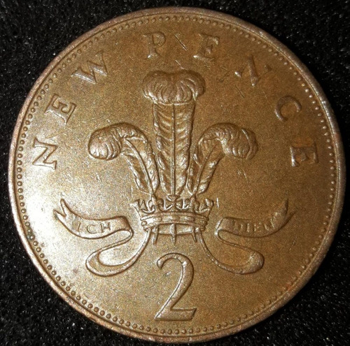 Imagem 1 de 2 de Moeda 2 New Pence Ano 1971 Reino Unido