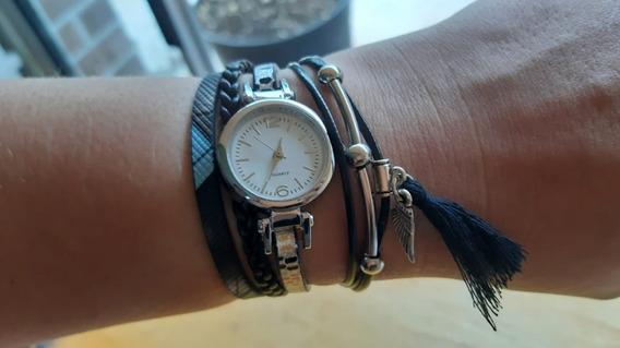 Relógio Feminino Quartz Pulseira Pingente
